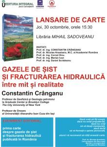Poster Lansare Sadoveanu
