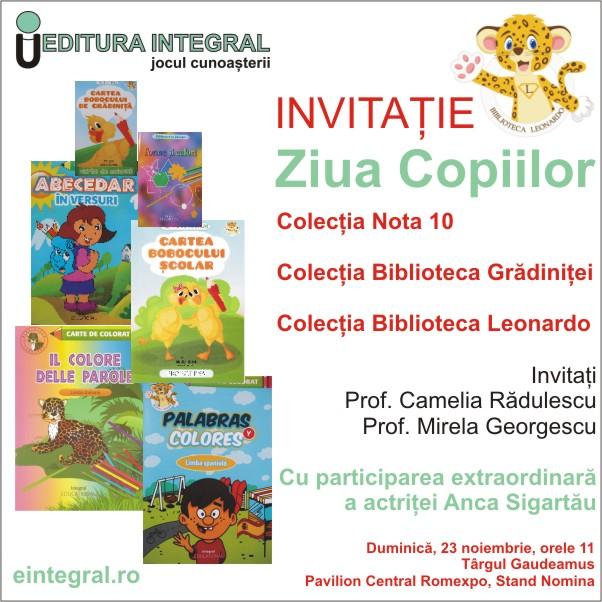 Invitatie Ziua Copiilor