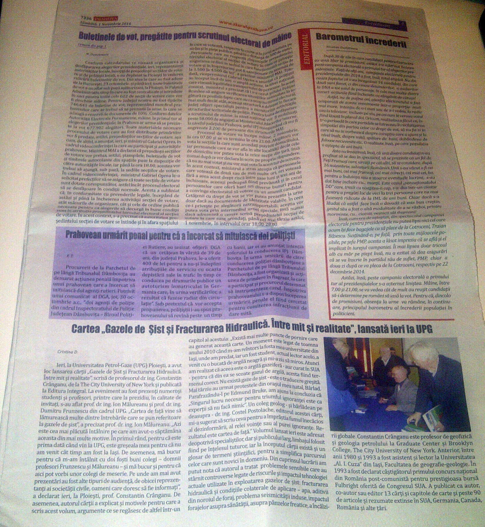 Ziarul Prahova 1 nov