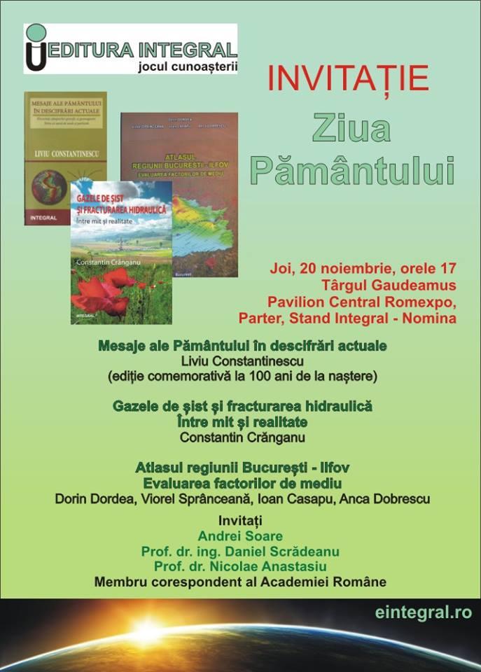 ziua pamantului - invitatie lansare